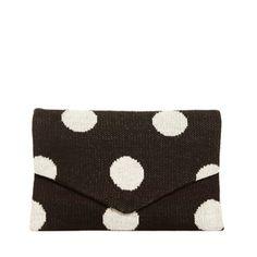 Polka Dot Clutch Bag Black, 14,50€, by hansel from basel !!