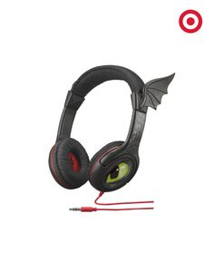 Chill out to your favorite tunes with these adorable Toothless headphones. Now available at Target.