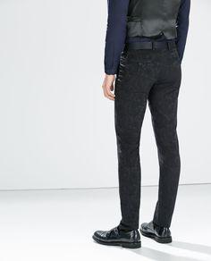Pantaloni jacquard blu
