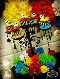 DIA DE LOS MUERTOS/DAY OF THE DEAD~Skull cupcakes - México