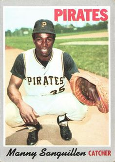 1970 Topps - [Base] - Manny Sanguillen [Poor to Fair] Pittsburgh Pirates Baseball, Detroit Tigers Baseball, Pittsburgh Sports, Baseball Players, Baseball Cards, Pirate Pictures, Roberto Clemente, Jolly Roger, Great Memories