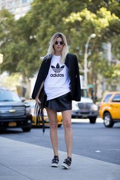 15 ways to style a classic Adidas T-shirt