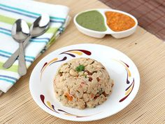 Rava Upma - Semolina (sooji) cooked with mixed vegetables and spices