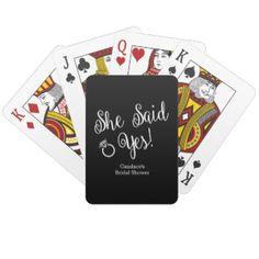 Custom Bridal Shower Playing Cards