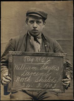 Fascinating old mugshots of North Shields prisoners from the early 1900s: William Sayers, 1903 (Tyne and Wear Archive and Museums)
