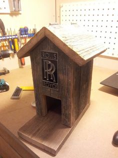 Rolls Royce barnwood bird feeder. #wooddesign