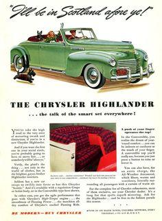 1940 Chrysler...adore that plaid !