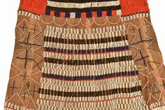 Beaded Leather Skirt A young woman's  initiation  skirt from the Iraqw peoples of Tanzania.  This is a ritual transition garment marking the changes in life after coming of age. Decorative Beads, Cultural Identity, Coming Of Age, Ethnic Fashion, Tanzania, Leather Skirt, African, Textiles, Traditional