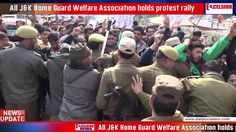 All J&K Home Guard Welfare Association holds protest rally