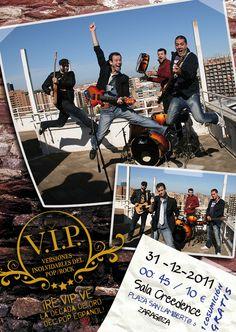 Diseño cartel grupo de música zaragozano VIP (Versiones Inolvidables del Pop/Rock)