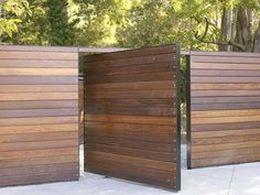 apartments wood fence design
