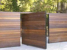 apartments wood fence design