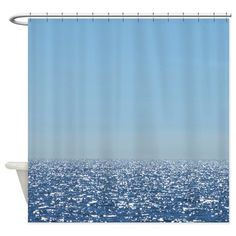 Sparkling Ocean Sky Shower Curtain on CafePress.com