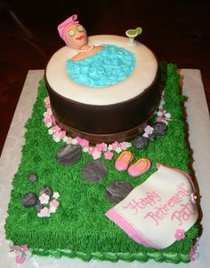 Awesome retirement cake for a woman!