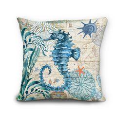 amazon - 【bailand】set of 3 nautical sea side theme cotton