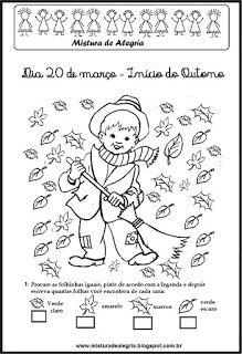 Mistura de Alegria: ESTAÇÕES DO ANO, ATIVIDADES SOBRE OUTONO, DIA 20 D...