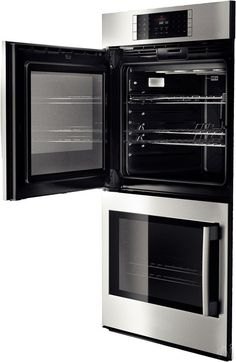 """Bosch HBLP651LUC 30"""" Double Electric Wall Oven with 4.6 cu. ft. European Convection Ovens, Self-Clean, 14 Cooking Modes, Fast Preheat, Temperature Probe and Side-Swing Door: Left Hinge Door Swing"""