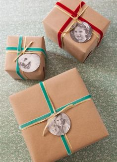 Everyone loves personalized wrapping paper! Add an old funny picture and you'll be an instant hit!