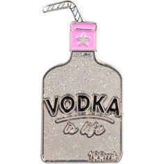 Vodka Enamel Pin ($6.29) ❤ liked on Polyvore featuring jewelry, brooches, pin brooch, enamel jewelry, party jewelry, pin jewelry and enamel brooches