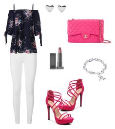 """Untitled #1249"" by mariafilomena471 ❤ liked on Polyvore featuring Burberry, Chanel, Lipstick Queen and WithChic"