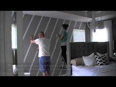 This wall pattern is created using ScotchColorsPatterns tape. NestingPlace DiamondWall