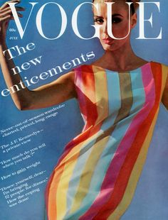 1961 Deborah Dixon, Vogue cover by Bert Stern, July