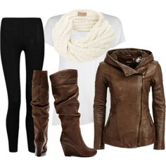 """Fall Leather Jacket"" by alyse16 on Polyvore"