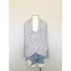 Heather Gray Wrap Top New without tags. Tops
