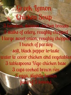 Greek Lemon Chicken Soup- The Notable Nook