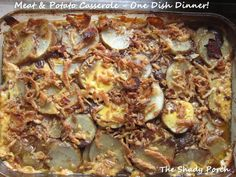 Meat & Potatoes Casserole - One Dish Dinner by The Shady Porch