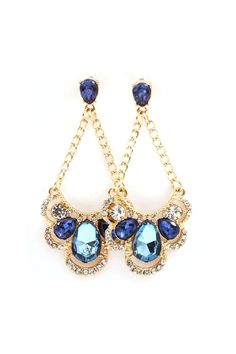 Pretty Blue Chandelier Earrings