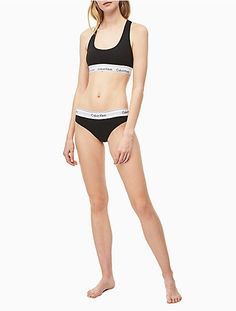 Modern Cotton Bikini by Calvin Klein (in color options black and white) Cotton Bralette, Padded Bralette, Bralette Bikini, Lingerie Set, Women Lingerie, Calvin Klein Bikinis, Bra And Panty Sets, Calvin Klein Underwear, Sporty Look