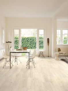 Quick-Step Creo Laminate CR3178 Charlotte oak white Dining room