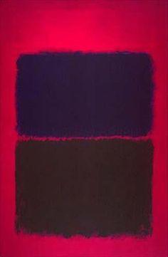 Light Red Over Black, by Mark Rothko