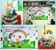 Peepa pig backdrop Peepa Pig, Toy Chest, Storage Chest, Backdrops, Toys, Cake, Home Decor, Activity Toys, Decoration Home
