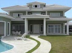 Pintura exterior de casa no pinterest azuis exteriores - Pintura casa moderna ...