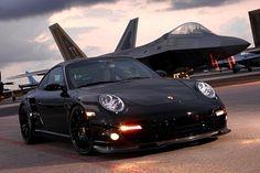 Porsche 997TT & F22 Raptor