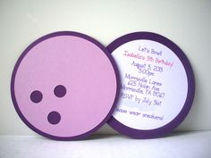 Bowling  Party Invitation by bellybeancards on Etsy, $20.00