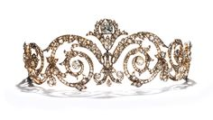 Tiara made by Chaumet in 1908 for the Marquise de Talhouët.  Gold, silver and diamonds.  © Chaumet Collection, Paris. #Jewelry