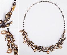 seaweedPerl Necklace by artist jewelry maker SarahLloyd-Morris in Wales.