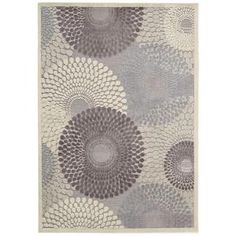 Nourison Graphic Illusions Grey 5 ft. 3 in. x 7 ft. 5 in. Area Rug-118059 at The Home Depot