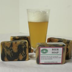 Beer Soap With Natural Colors and 6 Oils