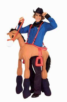 Your parents never bought you that pony when you were a kid, did they? Well, you can show them when you run around town wearing this Adult Ride a Horse with your cowboy costume. Horse Costumes, Scary Costumes, Adult Costumes, Cowboy Costumes, Halloween Kostüm, Halloween Costumes, Black Cowboy Hat, Head Mask, Red Bandana