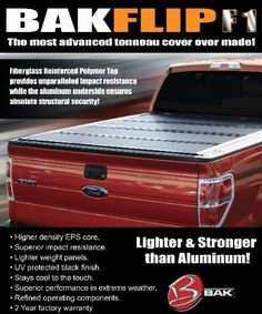 Bak Industries 72101Fibermas F1 Tonneau Cover ftis Chevrolet Silverado and CK Short Bed
