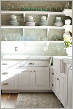 kitchen shelves.  Such a casual and relaxed style.  Perfect for the beach.