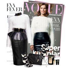 Eva Herzigova for Vogue in Balmain FW 2014