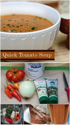 Quick Tomato Soup - A great meal to carry us over until grocery day! Via Sophistishe.com