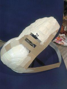 Halloween DIY dino project- base to T-rex head