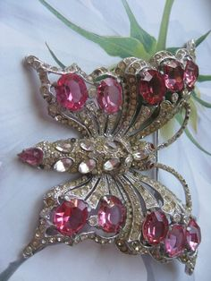 Signed Staret Butterfly Pin