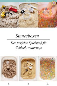 Sinnesboxen, perfekt für Schlecht… The sensory table and our top 3 sensory boxes. Sensory boxes, perfect for bad weather days! The sensory table in our Montessori home. Montessori Blog, Montessori Kindergarten, Montessori Materials, Montessori Activities, Infant Activities, Family Activities, Sensory Bags, Sensory Table, Sensory Play